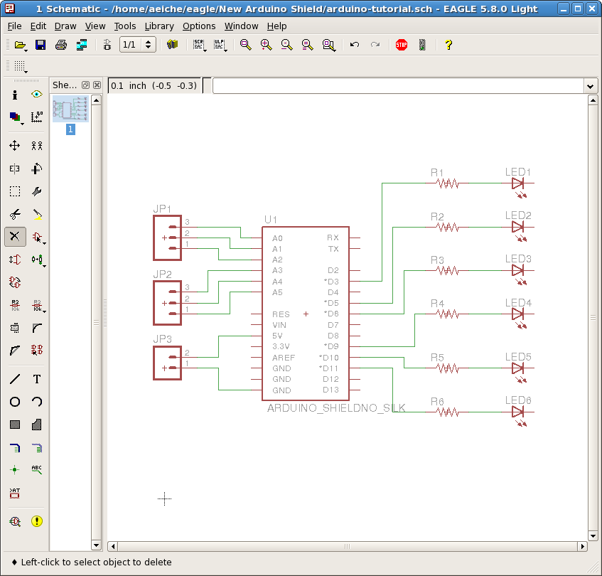 schematic wired all a beginner's guide to making an arduino shield pcb aaron eiche arduino mega wiring diagram at gsmx.co