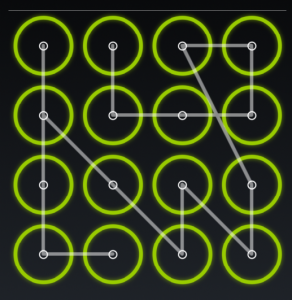 A complex android lock screen.
